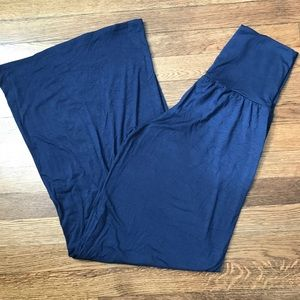 Acting Pro High Wasted Wide Leg Navy Pant